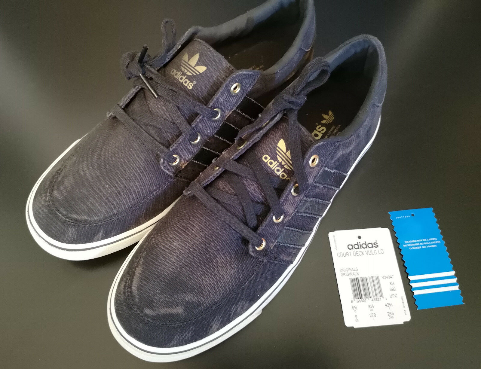 USED ADIDAS COURT DECK VULC LO 9 US