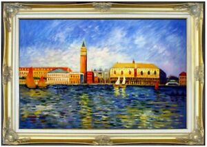 Framed-Renoir-The-Doges-Palace-Venice-Repro-Hand-Painted-Oil-Painting-24x36in