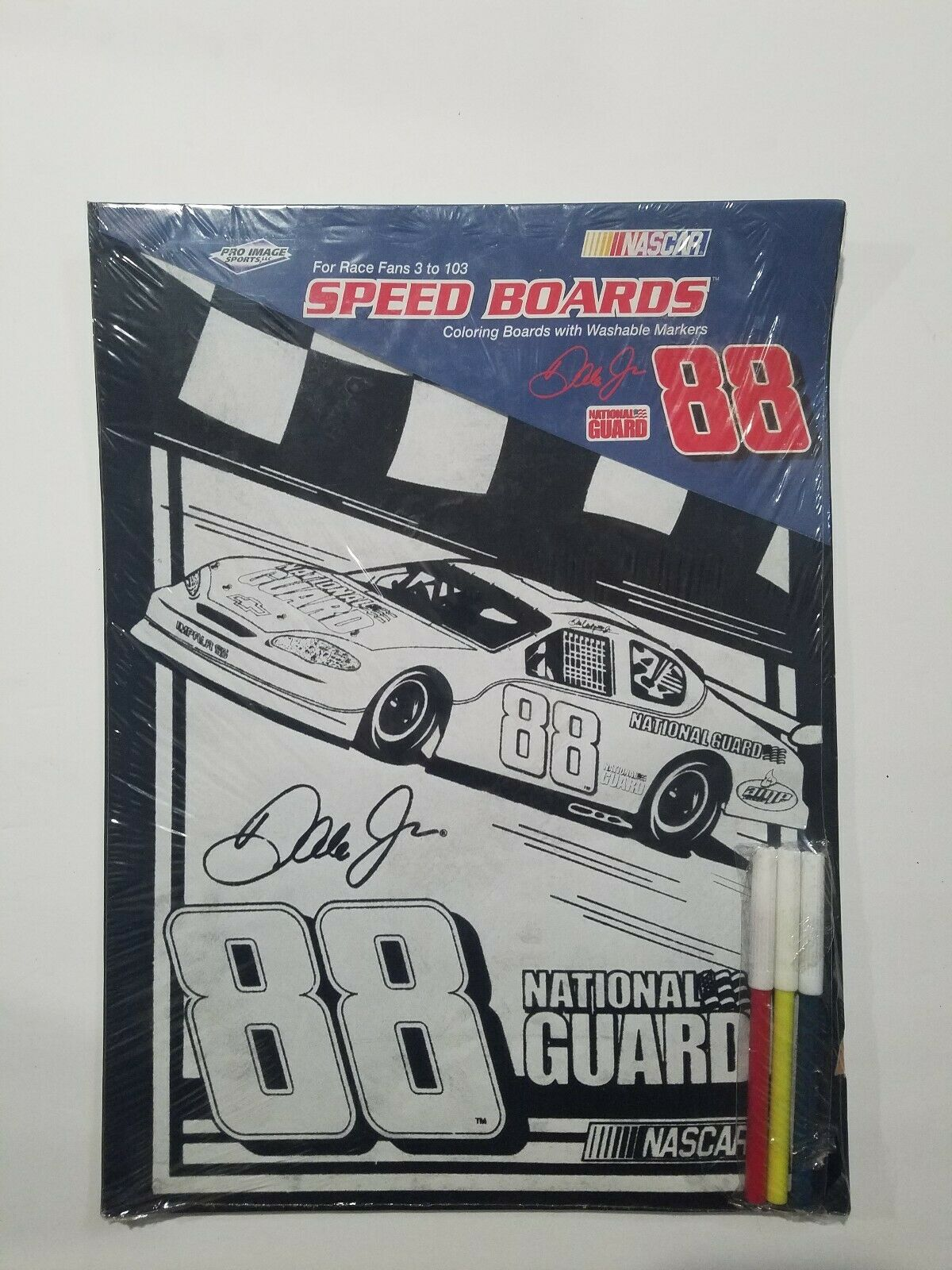 NASCAR Speed Board coloring Board w  Markers Lot of 3 Rare