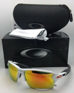 f2dd545dad New OAKLEY Sunglasses FLAK 2.0 XL OO9188-19 White Frame w  Fire ...
