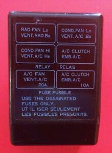 91-99 Mitsubishi 3000GT DODGE STEALTH HVAC RELAY FUSE BOX COVER | eBayeBay