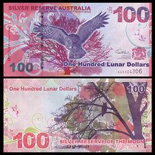 Silver Reserve of the Moon, Australia 100 Lunar Dollars, 2015, UNC>Eagle