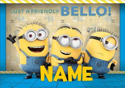 MINIONS b PERSONALISED PLACE MAT DINNER MAT TABLE MAT