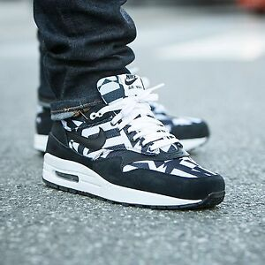 Details about Nike Air Max 1 GPX Mens size 8 684174 100 Dazzle BlackWhite