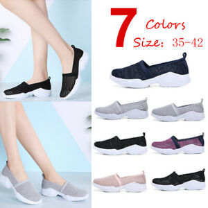 Fashion-Women-039-s-Slip-on-Flat-Shoes-Womens-Breathable-Walking-Casual-Shoes