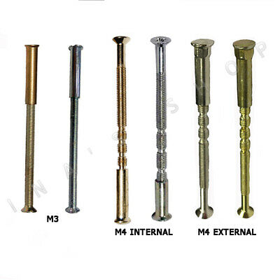 M3 M4 CONNECTING SCREWS Internal External BOLTS /& SLEEVE CUP SQUARE FOR HANDLES