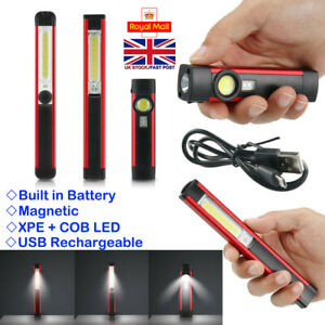 Ourdoor USB Rechargeable Flashlight 3000LM XPE COB LED Torch Lamp Mini Penlight