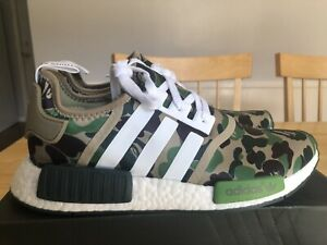 new styles 92319 d164f Details about Adidas NMD R1 Bape Green Camo Army Bathing Ape Nomad Runner  BA7326 - USA SELLER