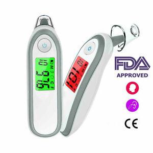 LCD Digital Thermomètre Auriculaire Medical Bébé Adulte la température corporelle orale 3 Mode