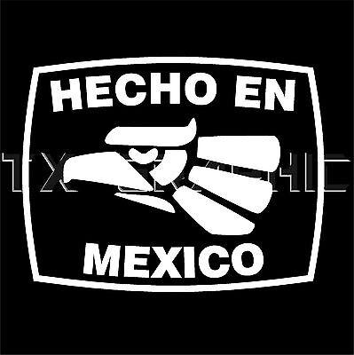 Hecho En Veracruz  Estado de Mexico  Aztec Aguila Decal Vinyl Sticker