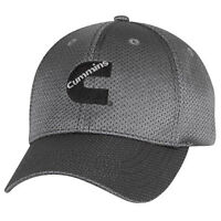Cummins Dodge Ball Cap Hat Titanium Gray Truck Summer Fitted Flex Fit Gift