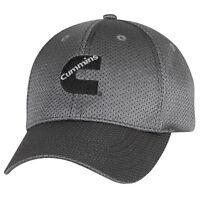 Cummins Dodge Ball Cap Hat Titanium Gray Truck Summer Fitted Flex Fit Gift