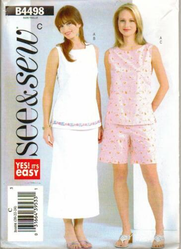 Misses/' Petite Top See /& Sew 4498 Misses/' Skirt and Shorts   SewingPattern
