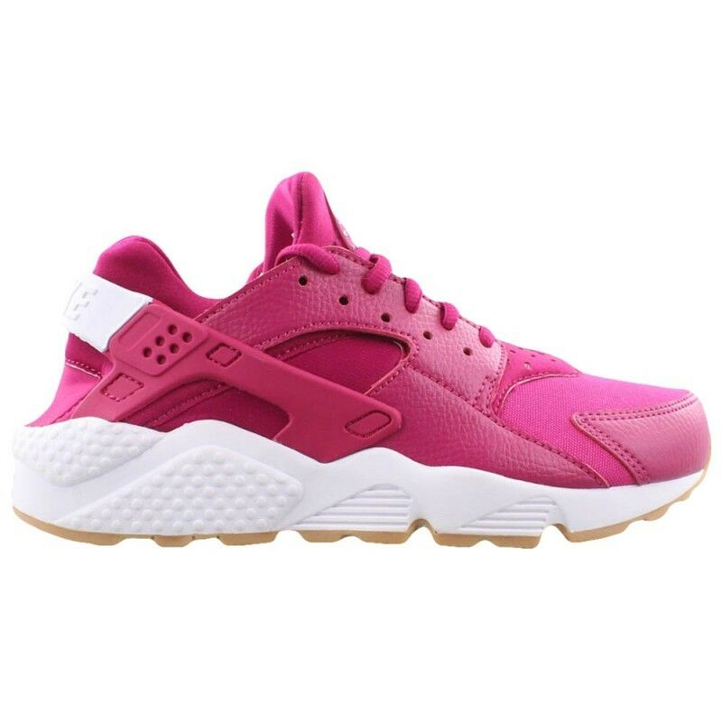New Nike Women's Air Huarache Run Shoes (634835-606)  Sport Fuchsia//White-Gum