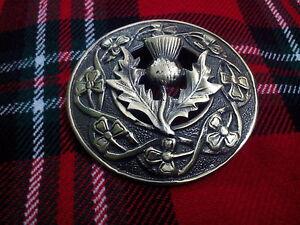 L Modische Muster Schottische Begeistert Tc Hochland Kilt Fly Plaid Broschen Distel Antik