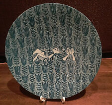 Bjorn Wiinblad Nymolle pottery plate. Danish, 20th century.