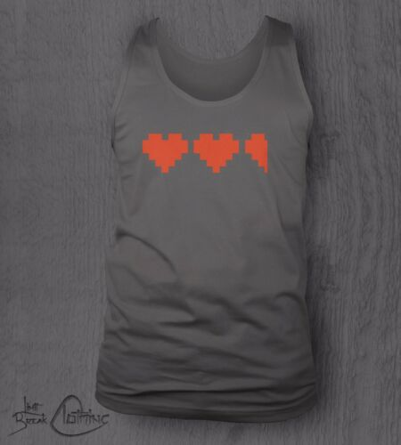 Zelda Video Game Hearts Vest Tank Top Bodybuilding GYM NES 8-bit Link Retro