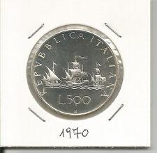 REPUBBLICA ITALIANA - 500 Lire argento Caravelle 1970