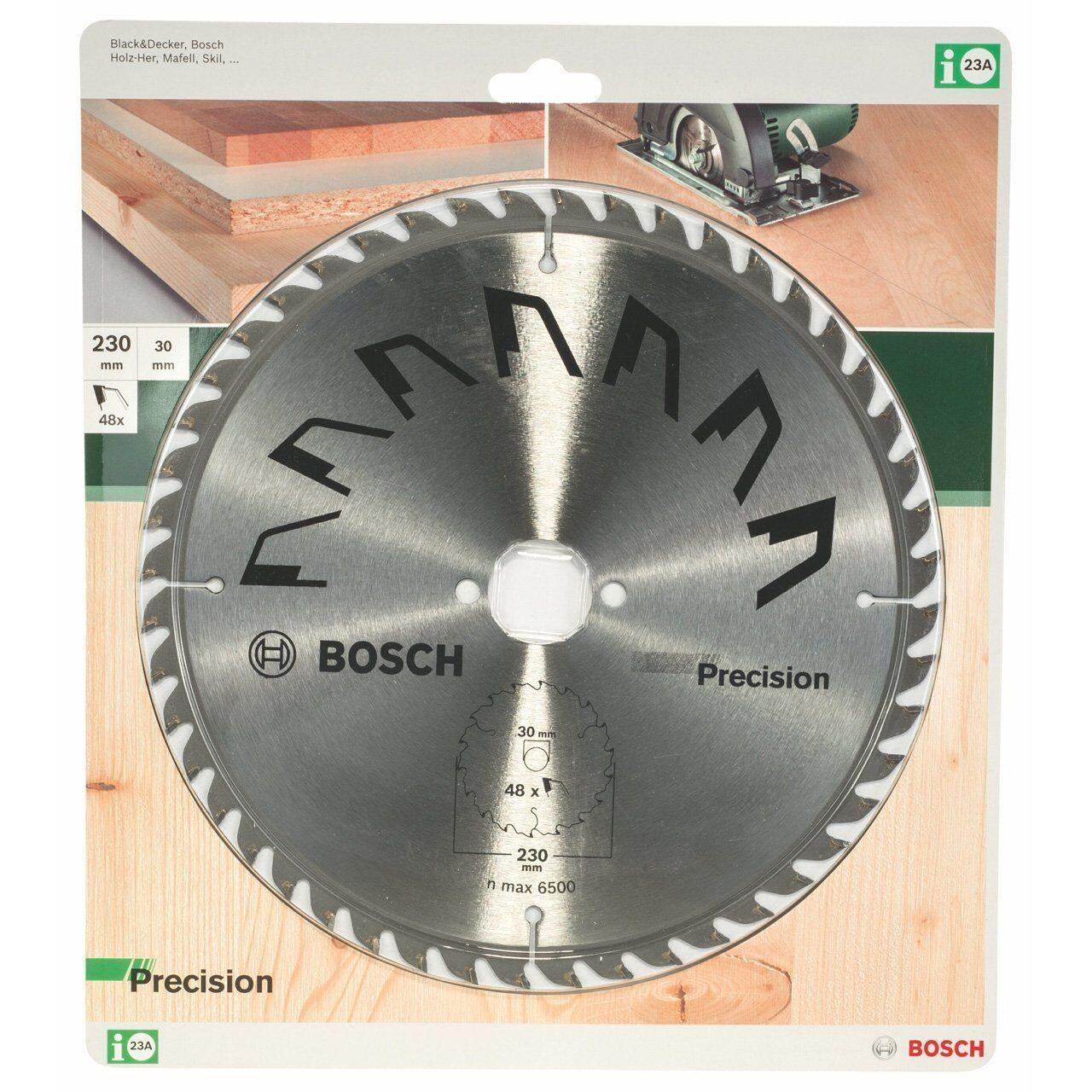 Bosch 23A Kreissägeblatt Precision 230 x 30 mm 48 Zähne Sägeblatt 2609256875