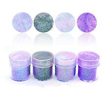 10ml Nail Art Glitter Powder Purple Pink Super Fine Sheets Tips Decoration DIY