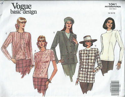 Jacket and Top - Vogue Pattern No.1041 - 1992.