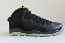 Men's Nike Air Jordan Retro 10 Black Venom Green 310805-033 Size 11
