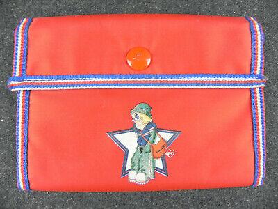Portafogli Onyx In Tela Da Ragazzo Bambino Portafoglio Vintage Rosso Con Bottone Ricco E Magnifico
