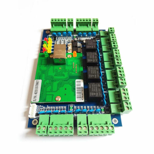 TCP//IP 4 Door Browser Server B//S iOS Android Apple App Access Controller w//Power