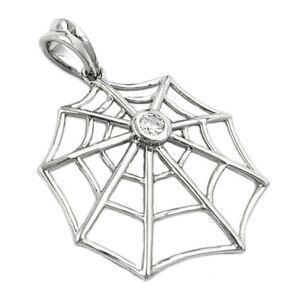 Anhaenger-Spinnennetz-mit-Zirkonia-Netz-925-Silber-Kettenanhaenger-Damen