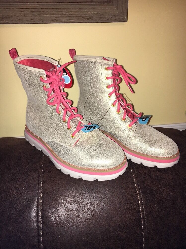 Skechers On-The-Go Sparkle Gold And Corral Ortholite Boots Women's Size 8.5