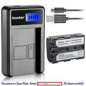 Kastar Batería Cargador LCD para Sony NP-FM50 DSR-PDX10 HVL-ML20M HVR-A1 GV-D1000