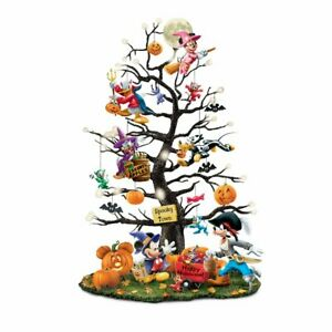 Disney-Trick-Or-Treat-Illuminated-Halloween-Tabletop-Tree-by-Bradford-Exchange