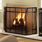 Pleasant Hearth FA017SB Mission Style 3-Panel Fireplace Screen - Wenge Finish