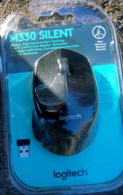 Logitech M330 Silent  Wireless Mouse Black-New in Sealed Package