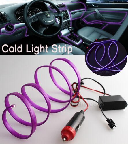 Purple Interior Trim Door Panel Decor Atmosphere Cold Strip EL Light For Dodge