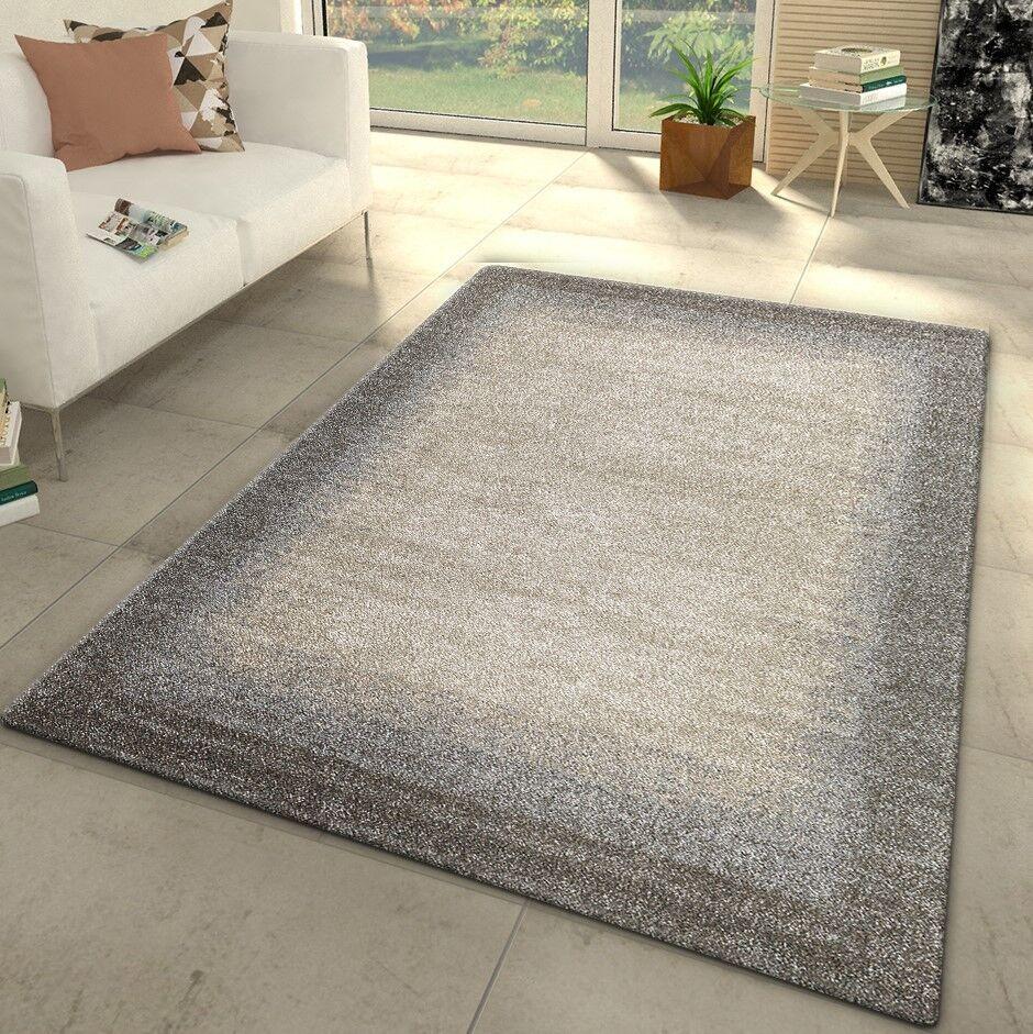 Designer Rugs New Modern grau Beige Woven Woven Woven Low Pile Mat Small Large Border Carpet ca0234