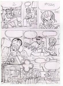 Disney Sergio Cabella Tavola Originale Matita Topolino Ebay