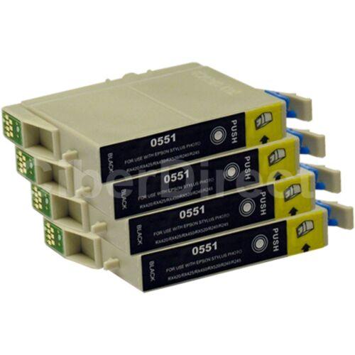 VAT Invoice 4 CiberDirect Replacements for Epson T0551 Printer Ink Cartridges