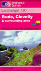 Bude, Clovelly and Surrounding Area by Ordnance Survey (Sheet map, folded, 1995)