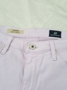 AG-Adriano-Goldschmied-The-Prima-Mid-Rise-Cigarette-Lavender-Purple-Pants-28R