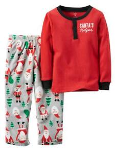 Carter/'s 5T Christmas 2 Piece Long Sleeve Pajama Set Santa/'s Little Helper Boys