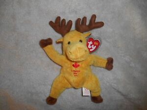 TY BEANIE BABIES DOMINION MOOSE CANADA DAY 2004 INTERNET STORE EXCLUSIVE PLUSH
