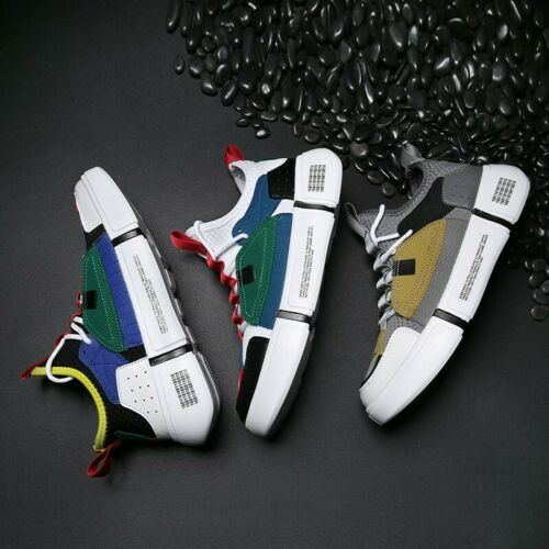 Breathable Boards Shoes Mesh Men Match Color Lace Up Leisure Sport Running Shoes