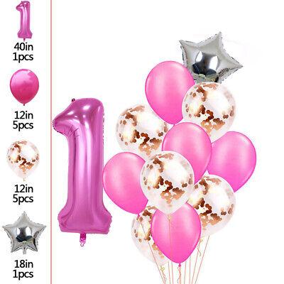14pcs Barbi Party Supplies Balloons set 10pcs 12 Latex Balloons 2 pcs aluminum Foil balloons Kids Baby Shower Barbi Birthday Party Decorations