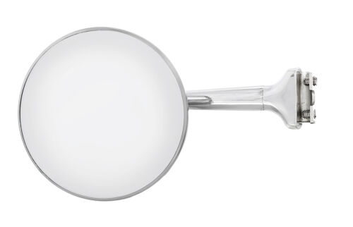 """a4008 4/"""" stainless steel peep mirror with chrome straight arm"""