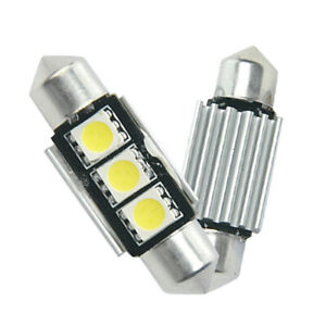 2-X-3-SMD-LED-36mm-Soffitte-Canbus-Innenraum-Leuchte-Licht-Lampe-Sofitte-Weiss