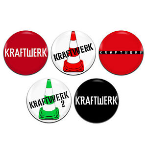 Details about 5x Kraftwerk Eletronic Synth-Pop Band 25mm / 1 Inch D Pin  Button Badges