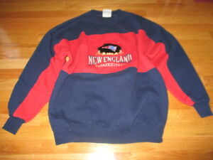 new arrivals 1e320 926b5 Details about Vintage 90s Crable Sportswear NEW ENGLAND PATRIOTS  Embroidered (XL) Sweatshirt