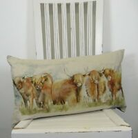 Voyage Maison Highland Cattle Duck Feather Filled Cushion 35cm X 60cm