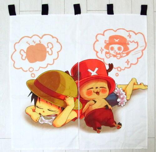 One Piece Anime Manga japanische Gardine Tür-Vorhang 90x90cm Neu